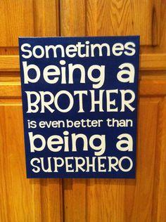 BROTHER/SUPERHERO CANVAS