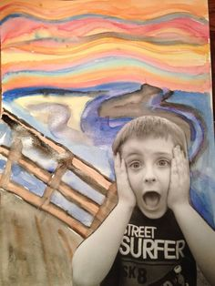 "Edvard Munch... The Scream.  Back to School art activity. ""Grade 3, What a Scream!"""