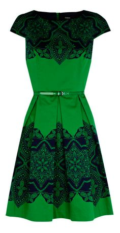 Lace emerald dress - for the holidays