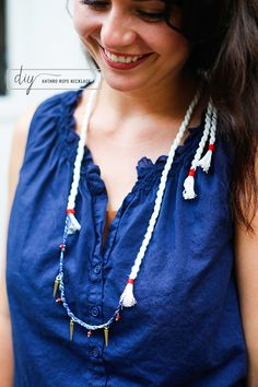 DIY: Anthropologie rope necklace