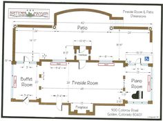 Fireside Room & Patio dimensions