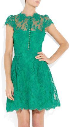 Green Lace Dress.