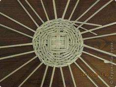 fondo de la cesta de tejer