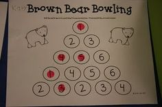lee kindergarten, idea, school, bears, bear fun, bear bowl, number, throwback thursday, brown bear