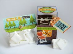 Jillibean Soup Happy Campers S'mores Kit by Mendi Yoshikawa - Scrapbook.com - Create your own DIY make your smores kit using Jillibean Soup's Happy Campers line.