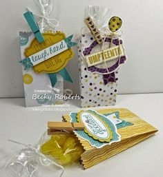 Stampin' Up! Moonlight Designer Series Paper Stack Pouches, clothespins