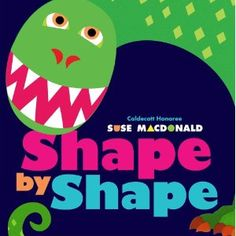 Fun preschool book for dinosaurs or shapes theme
