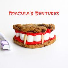Halloween Recipe cookie dracula dentures