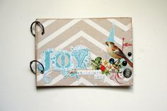 Joy this Christmas mini Album. via Etsy.