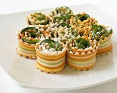 colorful antipasto rollups! cute appetizer.