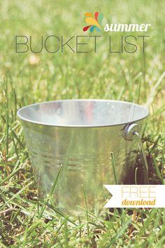 Printables for bucket list