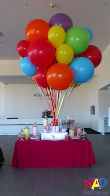 UP style big balloon bunch. Candy bar decoration ideas