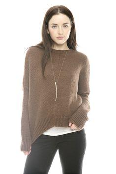dolman sweater, boyfriend, necklac