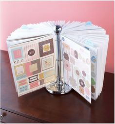 Awesome sticker holder idea for my scrapbooking organization :)