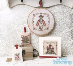 Capture the magic – stitch a fairytale fantasy. Cross stitch these elegant ideas full of beautiful detail! This adorable set from Shannon Wasilieff will be a joy to make, for fans of fantasy stitching – without the commitment of an oversized project. All the embellishments and details will still make them special… but within reach for busy stitchers! Patterns only in the new issue 220 of The World of Cross Stitching magazine