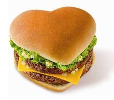 valentine's day burger -