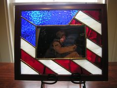 STAINED GLASS PICTURE FRAME, CONTACT ME IF INTERESTED