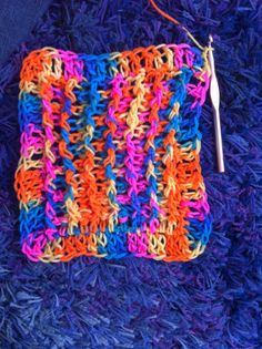 A favorite #crochet stitch pattern of mine - alternating post stitch