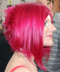 Fuchsia Red hair. Love this cut! The Best in Bright Hair from Premiere Orlando! Click through to see more.