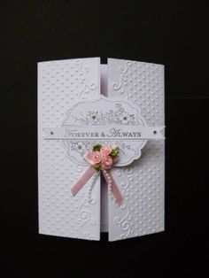 Embossed gate-fold wedding card by sistersandie - Cards and Paper Crafts at Splitcoaststampers card templat, wedding cards, news, apothecari art, embossing wedding invitations, gatefold cards, papers, emboss gatefold, paper crafts