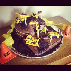 CAT Construction Birthday Cake