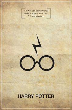 Harry Potter Memorable Quote Vintage 11X17 Poster Print. $18.00, via Etsy.