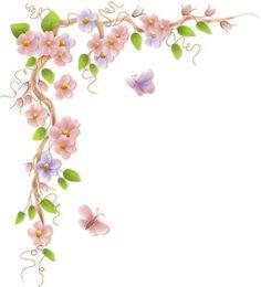 flower vine border clip art
