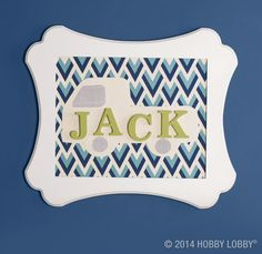 Need a fast track to some precious personalized art? Think trucks and duck cloth! Click for instructions.