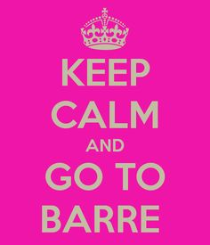 Keep Calm and Go To Barre!  Join one of our Barre Classes today! >>https://www.uni.edu/wellrec/fitness_classes