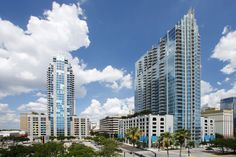 The Element and Skypoint buildings in downtown Tampa. Urban living at its best!