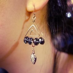 Triangle maze earrings
