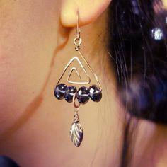 Triangle maze earrings