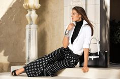 Discover fresh ways to style the classic black & white color combination now and for spring