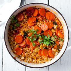 Bryiani - z soczewica, ryżem i mielonym z kurczaka