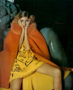 Jill Kennington by Bob Richardson for French Vogue, 1967.