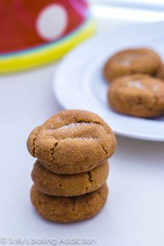 Soft Gingersnap Molasses Cookies - soft, thick, and so chewy! These are my favorite.