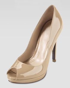 ANOTHER LOW PRICE POINT NUDE-COMPARE JIMMMY CHOO  Cole Haan Chelsea Open Toe High Pump, Sandstone - Neiman Marcus