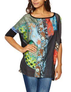 Desigual Women's Caracas Dolman Sleeve Blouse 27t2573 Price:$99.00