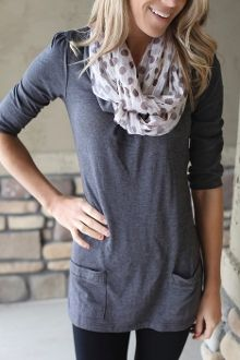 Cute and comfy-comes in 4 colors $19.99 cowl neck, pocket, woman fashion, polka dots, outfit, neck tunic, clothing stores, color 1999, shirt