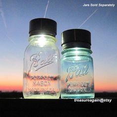 Solar LIDS 2 Canning Jar Lights for Fruit Jars by treasureagain, $21.00
