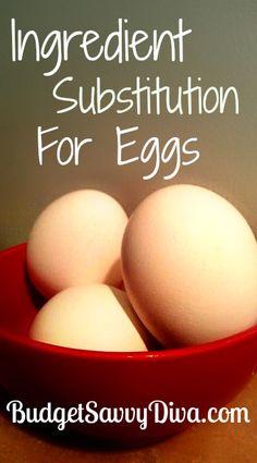 Ingredient Substitution for Eggs