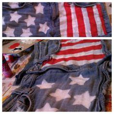 diy flag, craft, flags, diy july 4th outfit, flag short, diy american, 4th of july outfits diy, american flag, juli