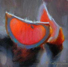 """grapefruit on gray"" by elena katsyura"