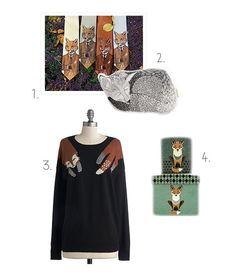 fox tie, dapper fox, fox rock, fox cloth, holiday gifts, gift idea, gift guid, sleep fox