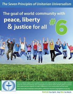 Unitarian Universalism sixth principle