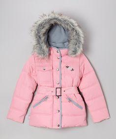 Light Pink Cargo Coat - Girls by Skechers on #zulily