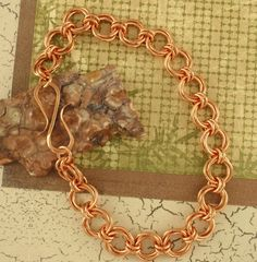 Linked Loops II Copper Chainmaille Bracelet Kit ~ Perfect for Beginners and also available in Brass, Bronze or a mix of metals!