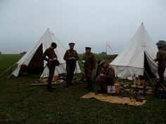 RFC Squadron Re-enactors at Stow Marie Aerodrome by Anorak Corner, via Flickr
