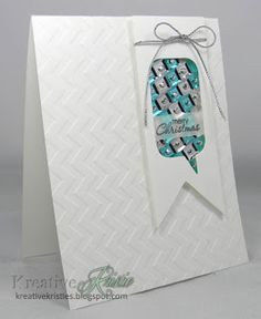 Such a cool card using sequins by Kristie, for her trends article at StampNation.   #stampnation