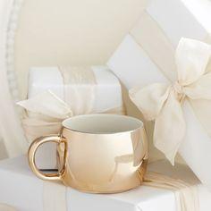 Starbucks Gold Holiday Mug
